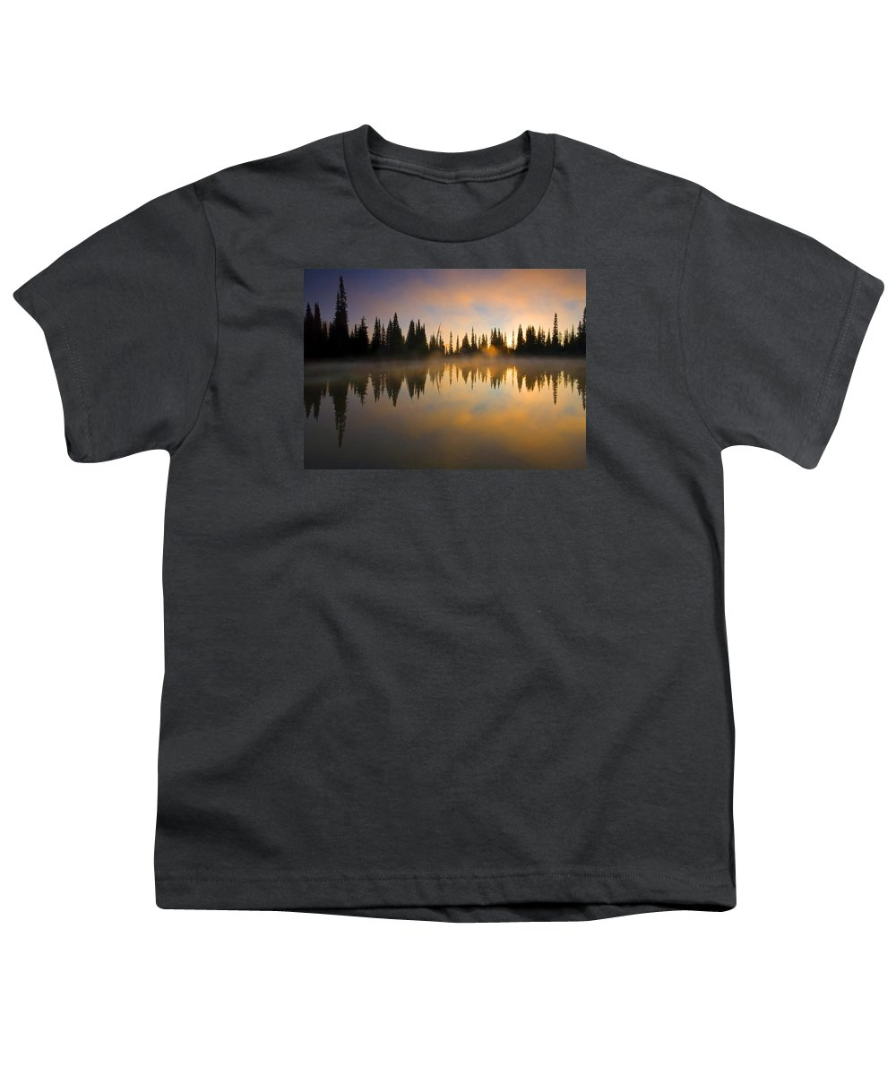Lake Youth T-Shirt featuring the photograph Burning Dawn by Mike Dawson