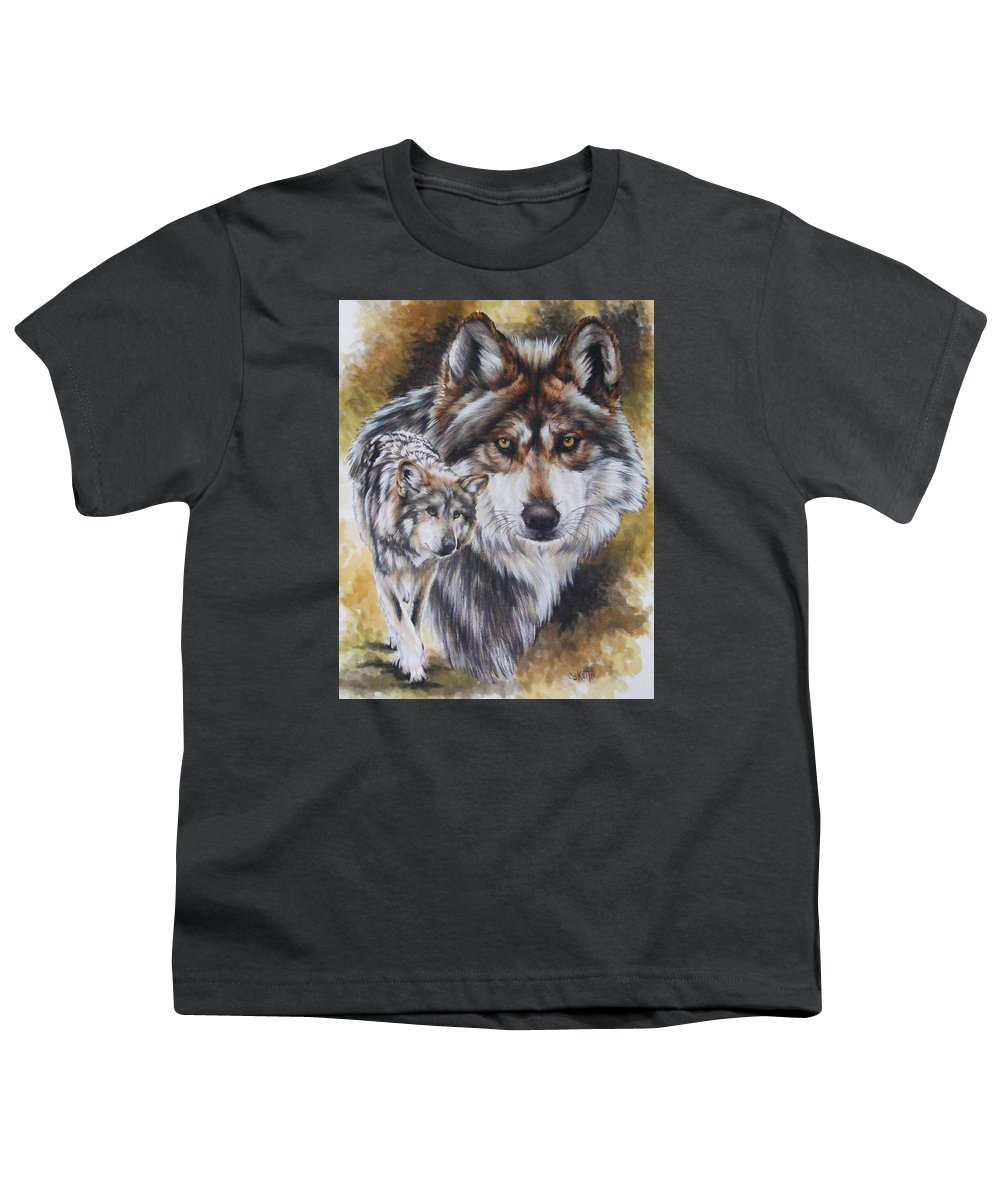 Wildlife Youth T-Shirt featuring the mixed media Callidity by Barbara Keith