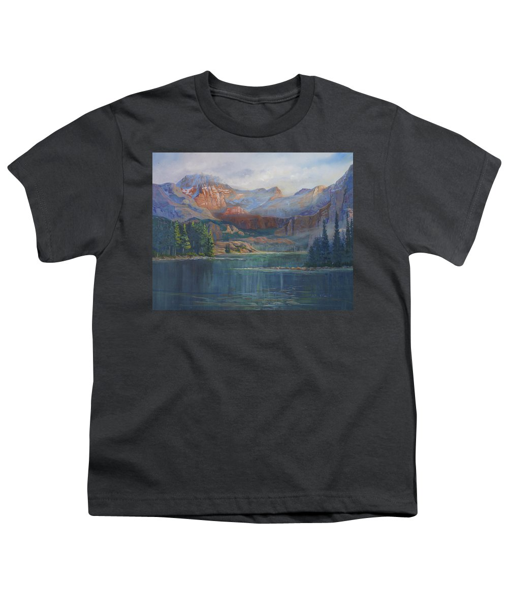 Capital Peak Youth T-Shirt featuring the painting Capitol Peak Rocky Mountains by Heather Coen
