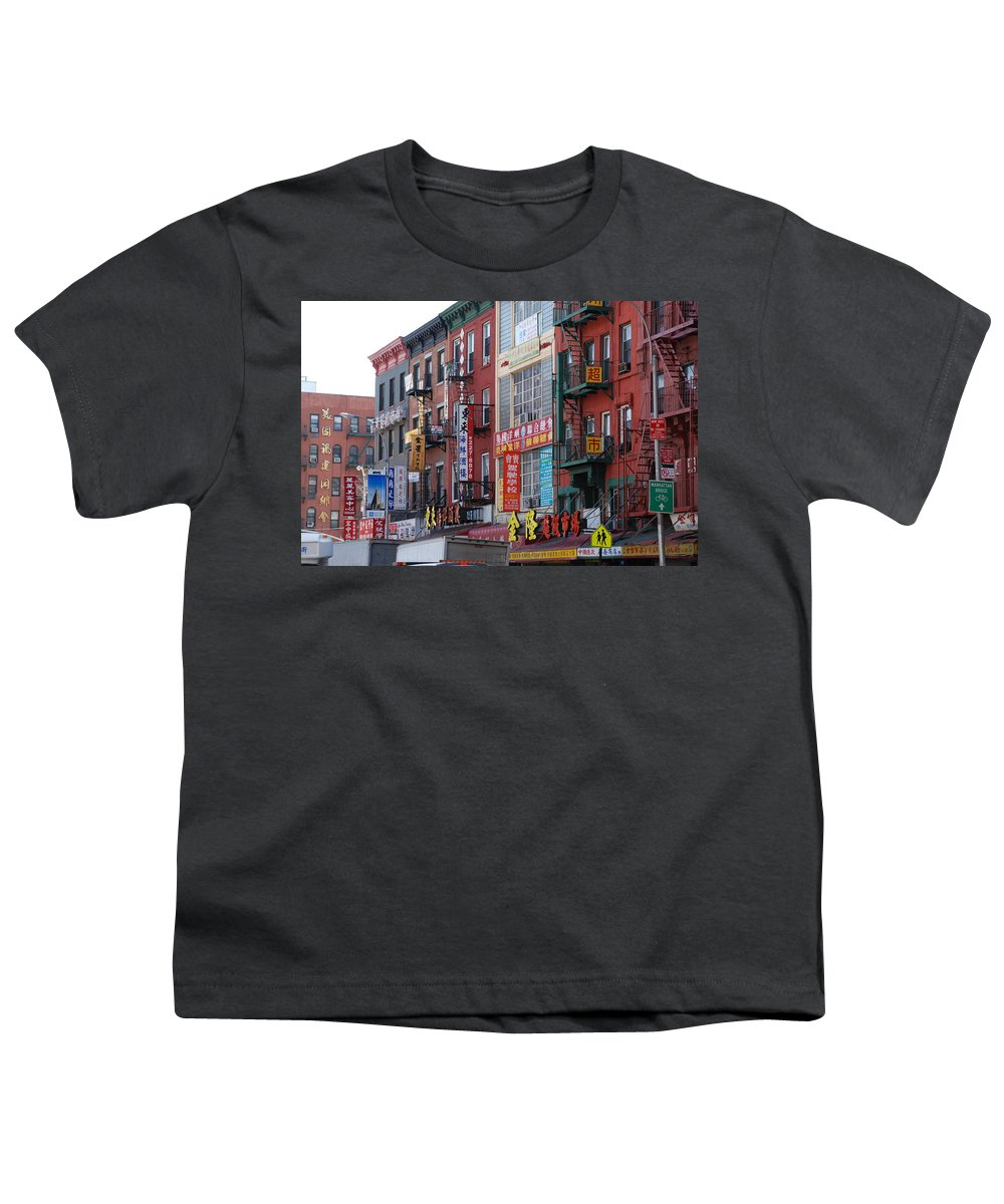Architecture Youth T-Shirt featuring the photograph China Town Buildings by Rob Hans