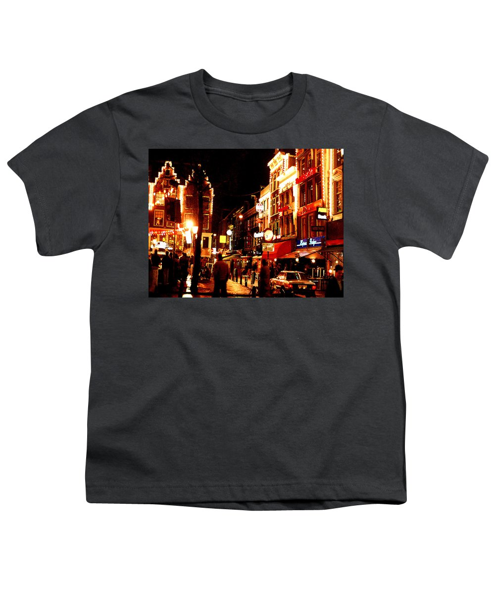 Night Youth T-Shirt featuring the photograph Christmas In Amsterdam by Nancy Mueller