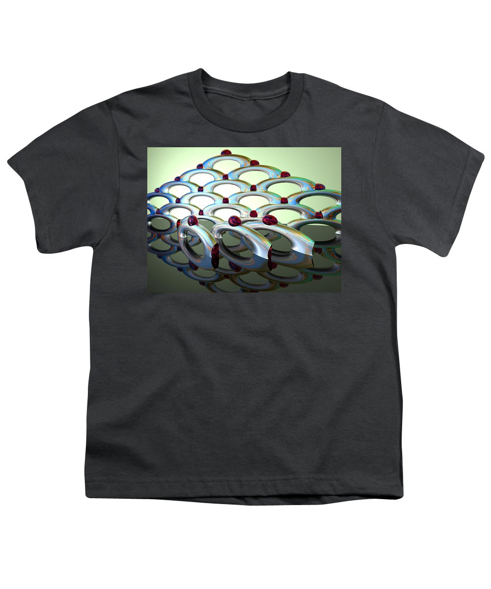 Scott Piers Youth T-Shirt featuring the painting Chrome Sundae by Scott Piers