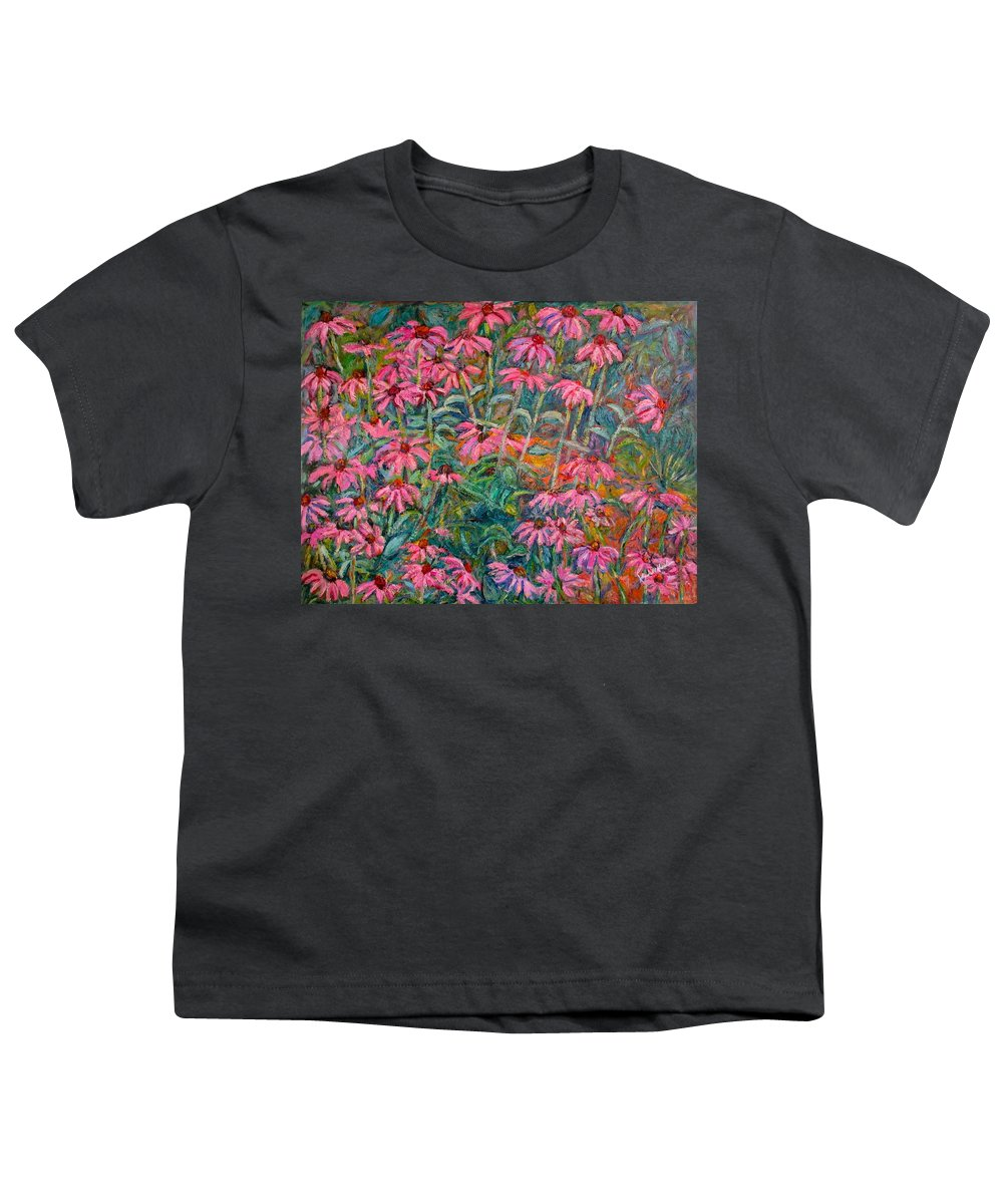 Kendall Kessler Youth T-Shirt featuring the painting Coneflowers by Kendall Kessler