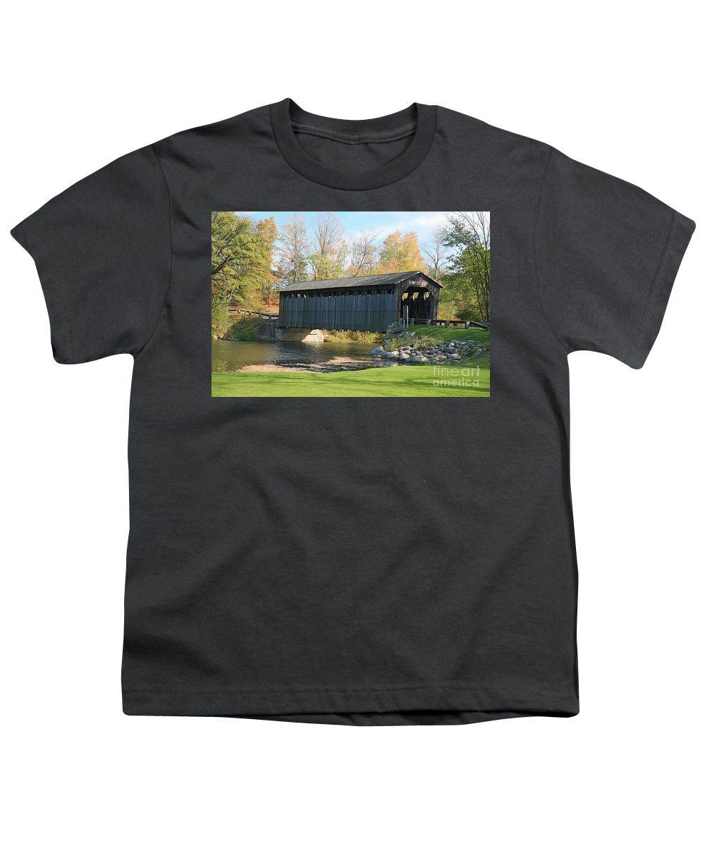 Covered Bridge Youth T-Shirt featuring the photograph Covered Bridge by Robert Pearson