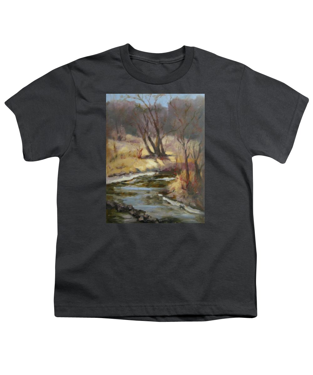 Plein Air Landscape Youth T-Shirt featuring the painting Credit River by Patricia Kness