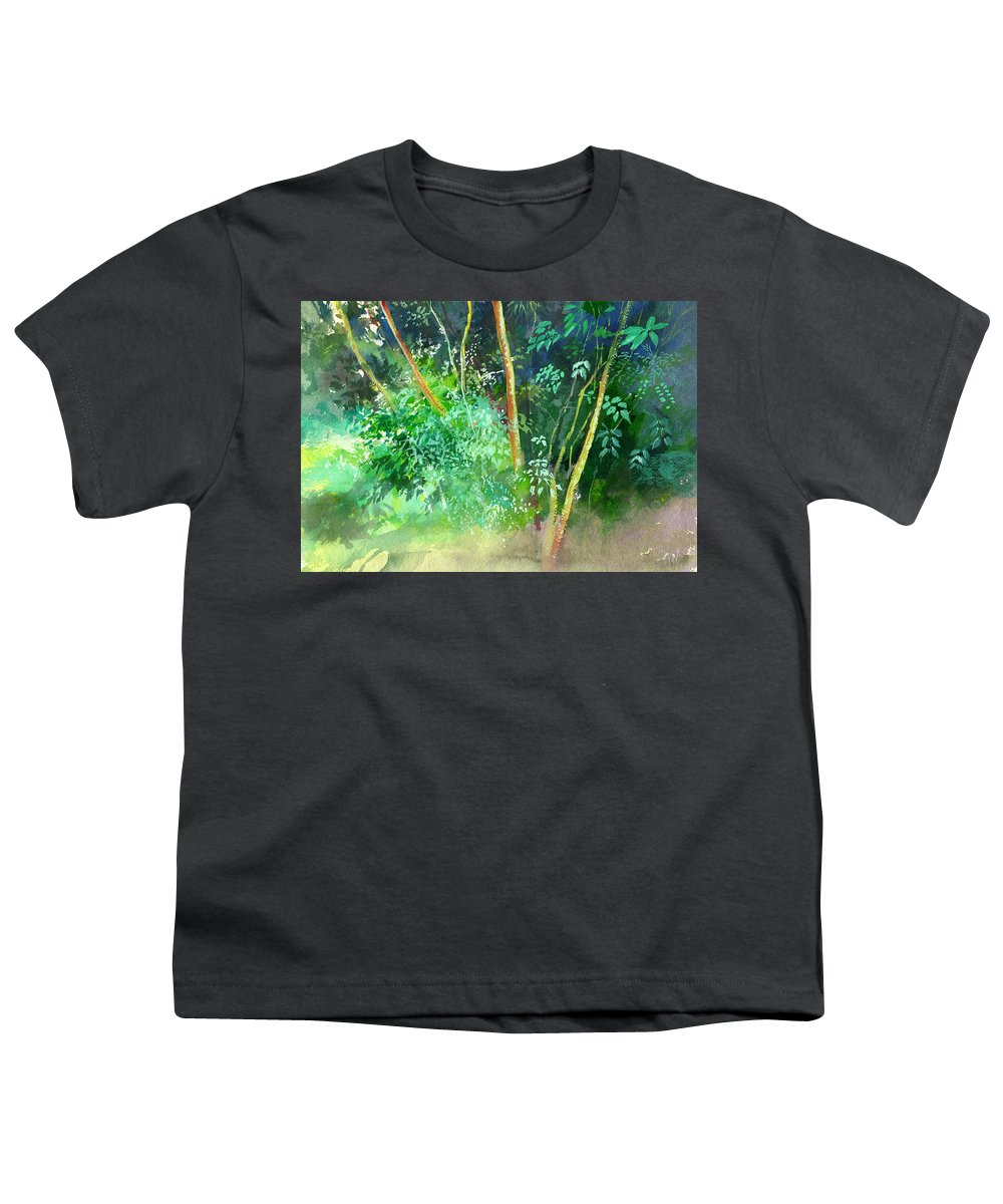 Water Color Youth T-Shirt featuring the painting Deep by Anil Nene