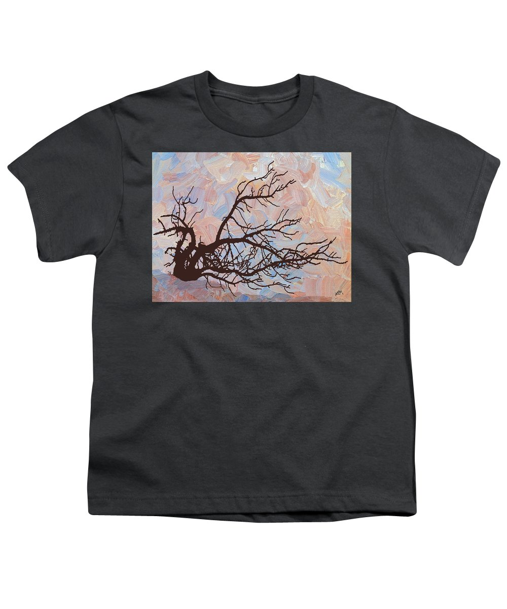 Abstract Youth T-Shirt featuring the digital art Desert Tree Branch by Linda Mears