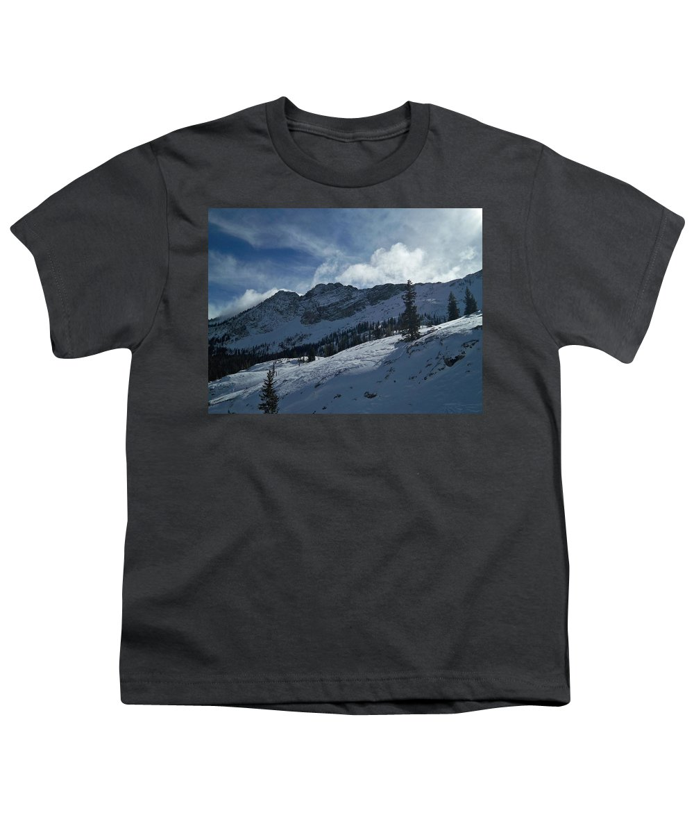 Ski Youth T-Shirt featuring the photograph Devils Castle Morning Light by Michael Cuozzo