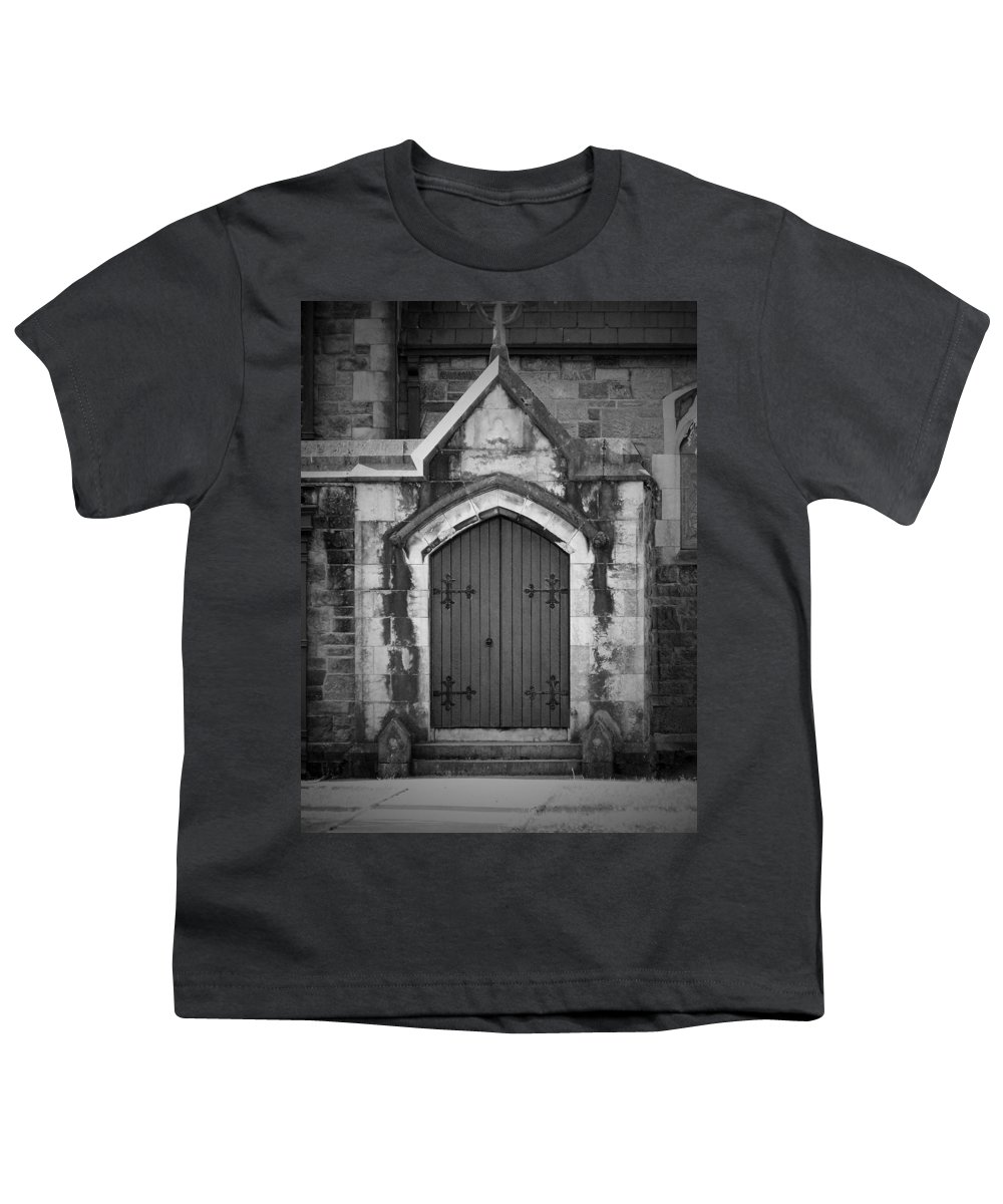 Irish Youth T-Shirt featuring the photograph Door At St. Johns In Tralee Ireland by Teresa Mucha