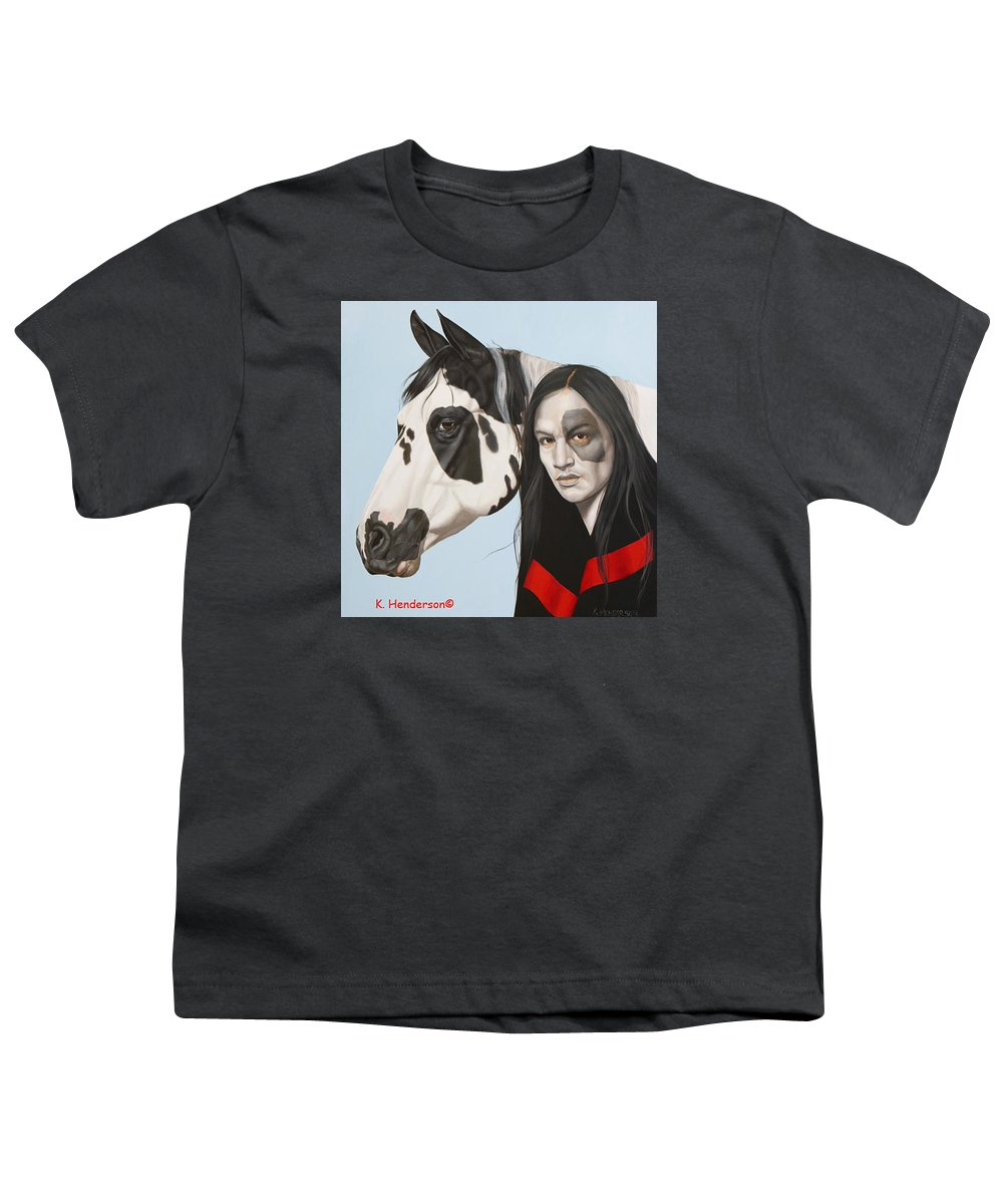 Cowgirl Youth T-Shirt featuring the painting Dreams Await by K Henderson