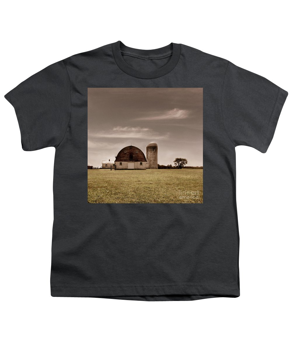 Farm Youth T-Shirt featuring the photograph Dry Earth Crumbles Between My Fingers And I Look To The Sky For Rain by Dana DiPasquale