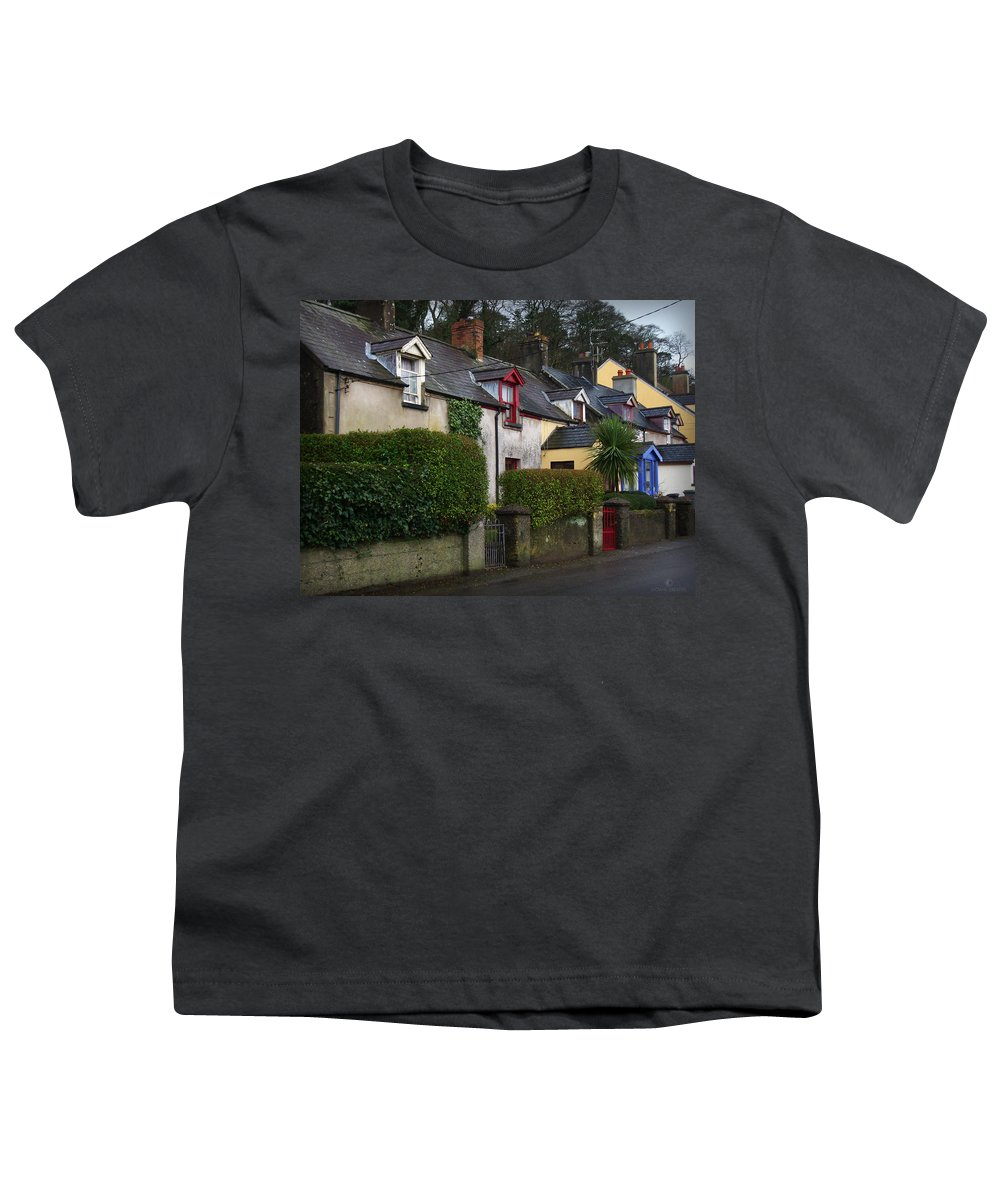 Ireland Youth T-Shirt featuring the photograph Dunmore Houses by Tim Nyberg