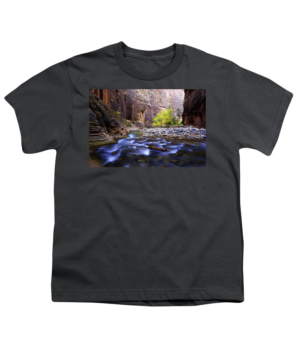 Dynamic Zion Youth T-Shirt featuring the photograph Dynamic Zion by Chad Dutson
