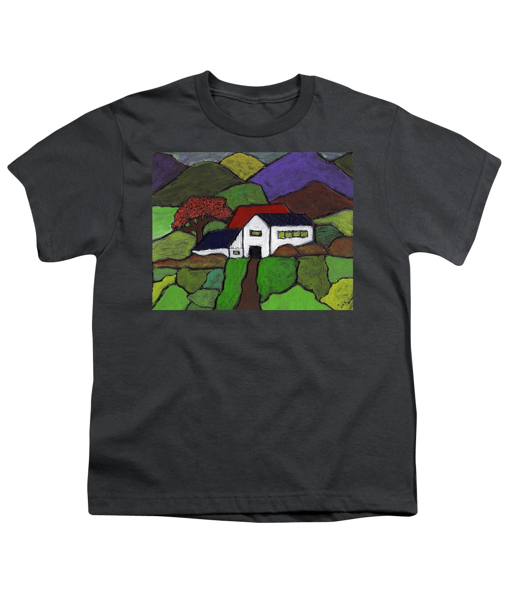 Farm Youth T-Shirt featuring the painting Early Autumn by Wayne Potrafka