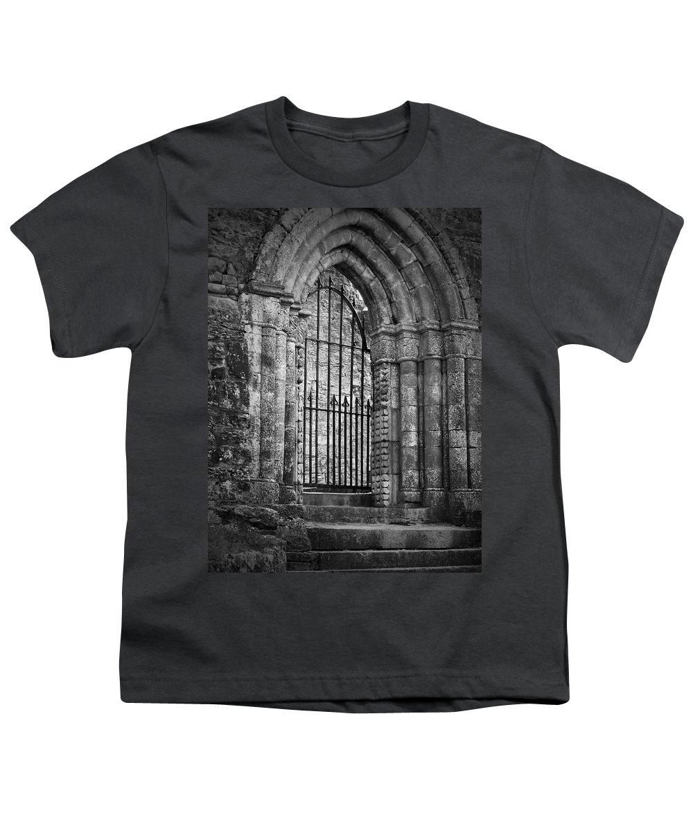Irish Youth T-Shirt featuring the photograph Entrance To Cong Abbey Cong Ireland by Teresa Mucha