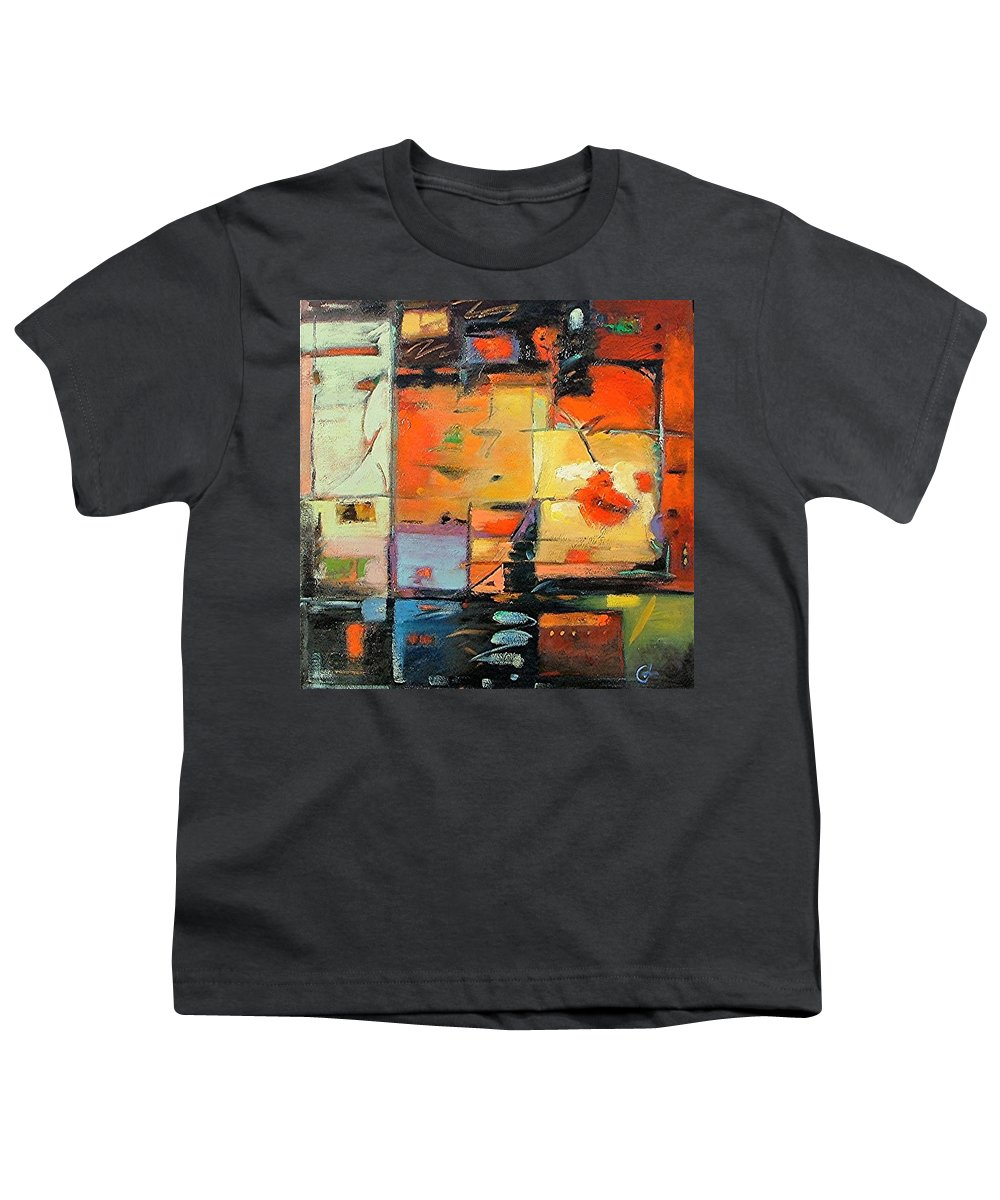 Abstract Painting Youth T-Shirt featuring the painting Evening Light by Gary Coleman