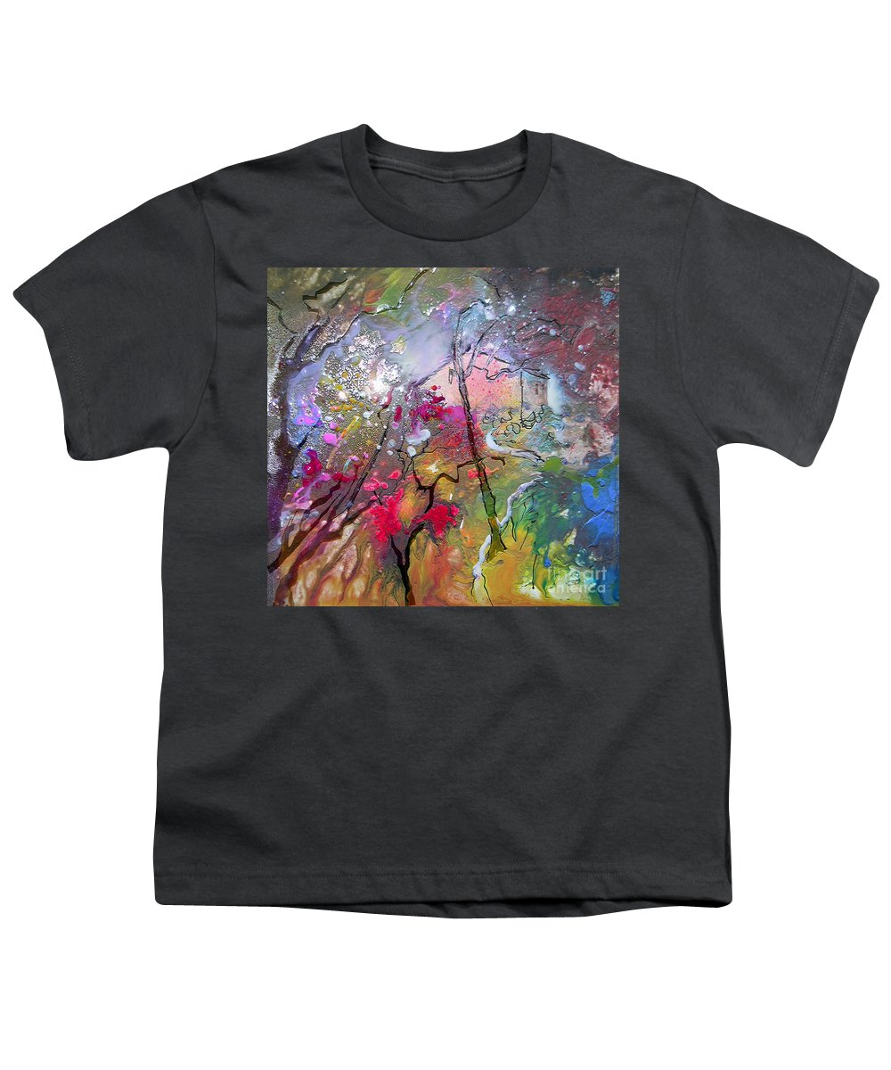 Miki Youth T-Shirt featuring the painting Fantaspray 19 1 by Miki De Goodaboom