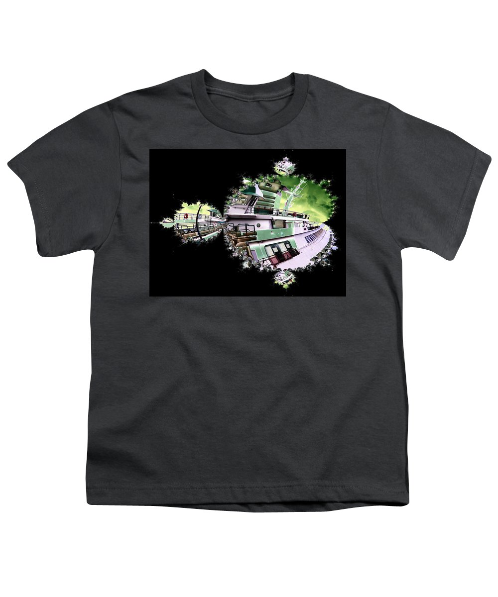Seattle Youth T-Shirt featuring the digital art Ferry In Fractal by Tim Allen