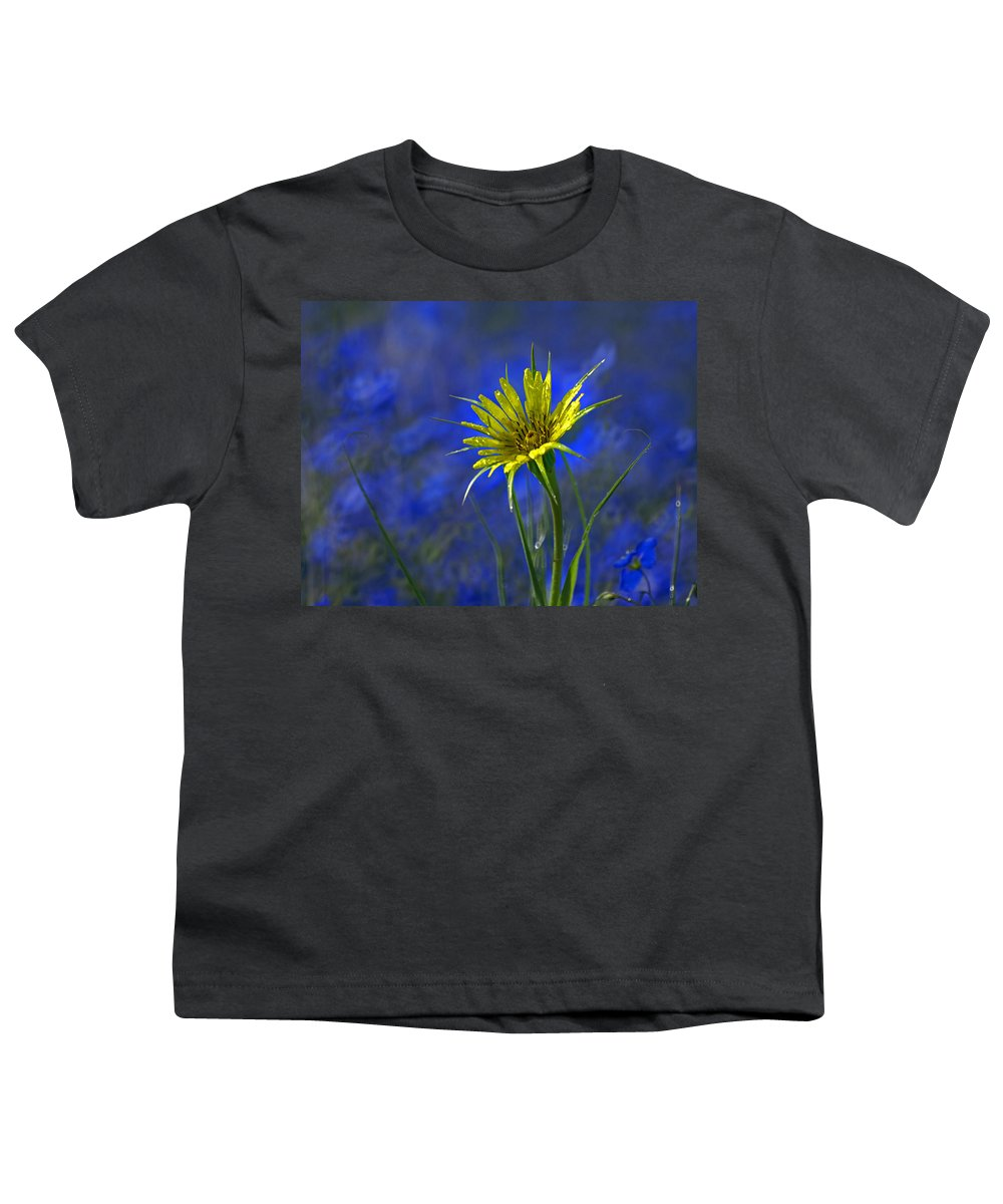 Flower Youth T-Shirt featuring the photograph Flower And Flax by Heather Coen