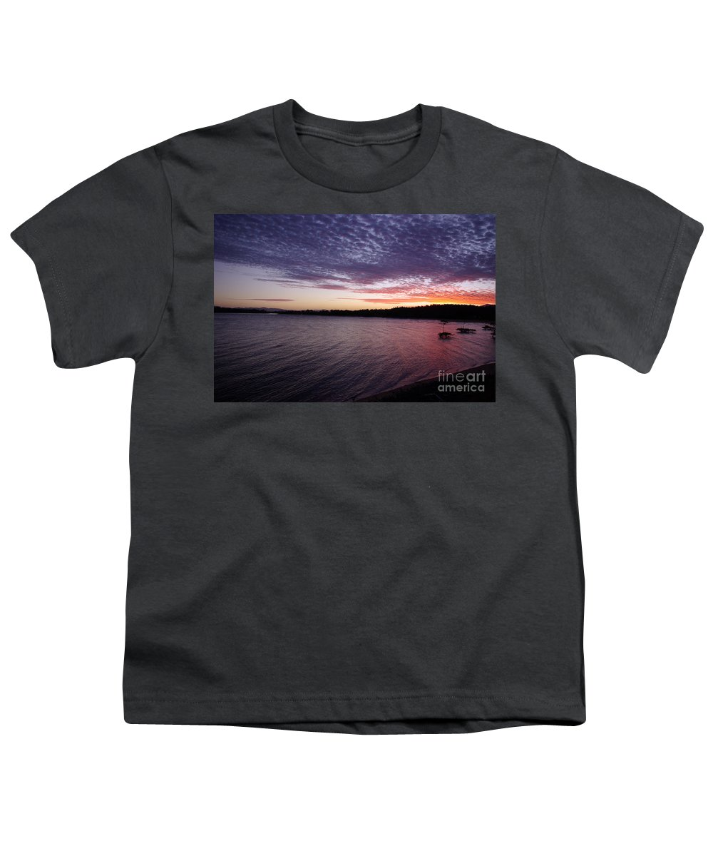 Landscape Youth T-Shirt featuring the photograph Four Elements Sunset Sequence 4 Coconuts Qld by Kerryn Madsen- Pietsch