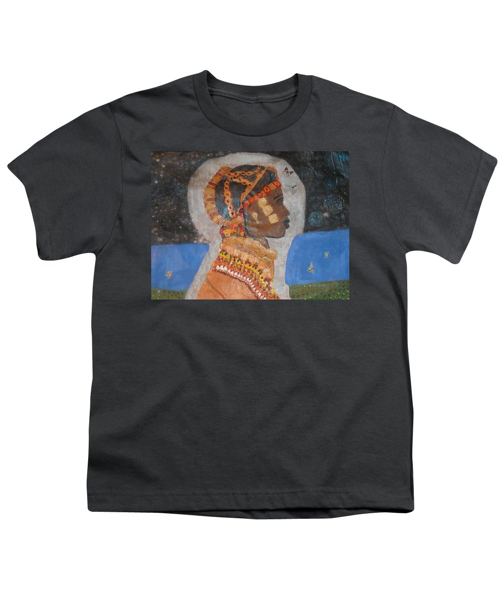 Cultural Youth T-Shirt featuring the painting From Princess To Queen by Yolanda Banks FWP
