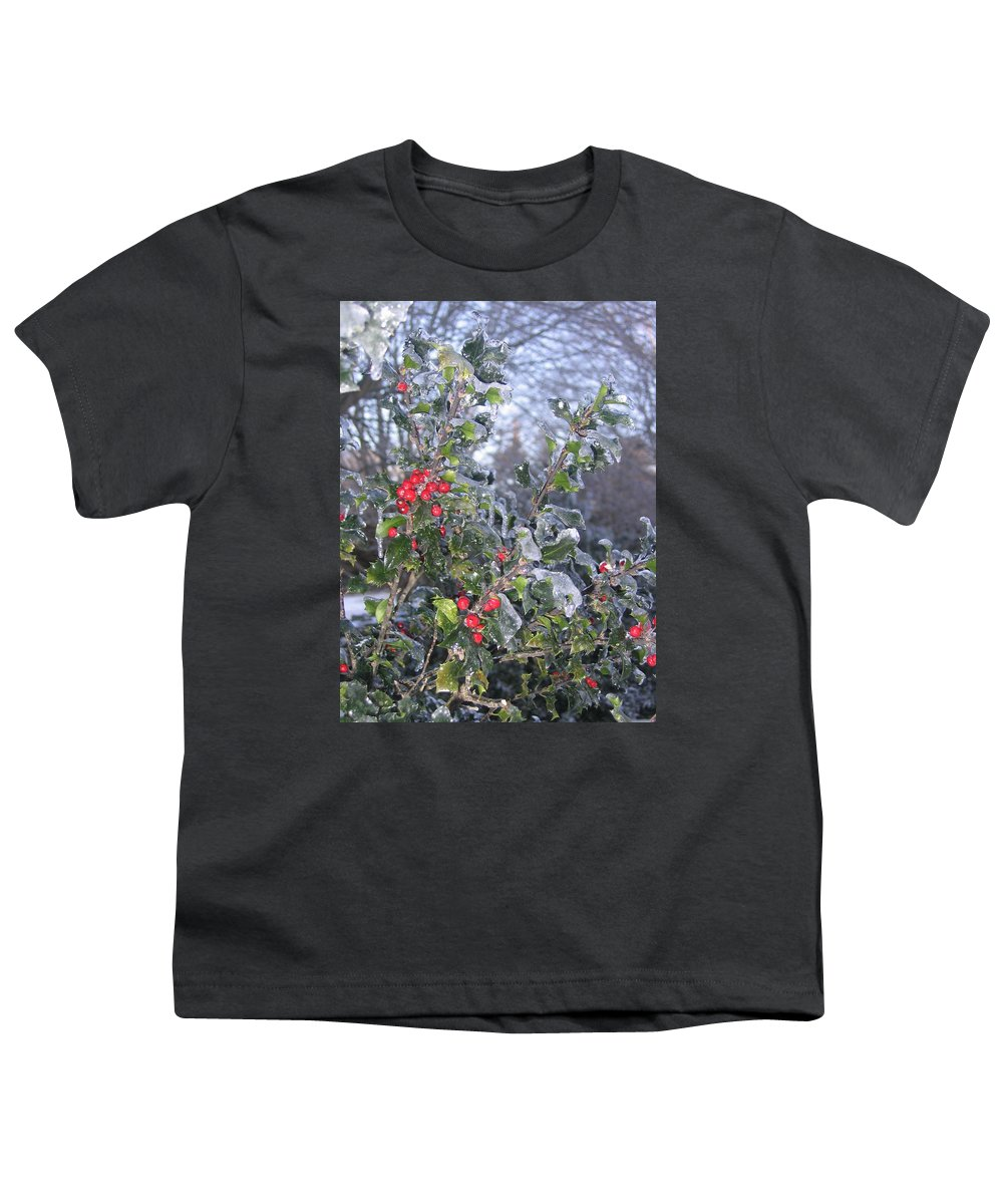 Winter Youth T-Shirt featuring the photograph Frozen In Time by Paula Emery