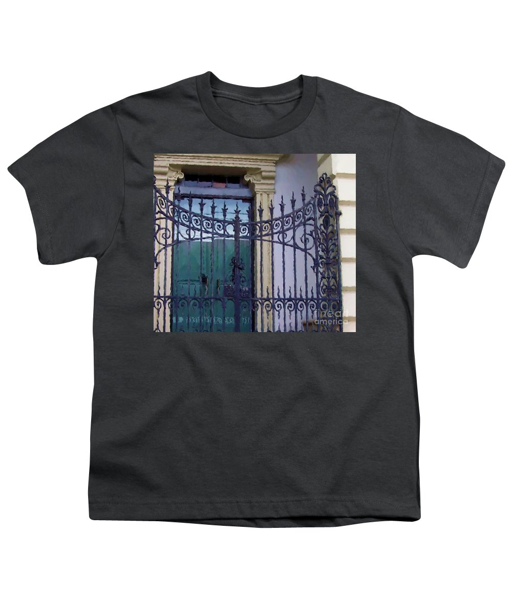 Gate Youth T-Shirt featuring the photograph Gated by Debbi Granruth