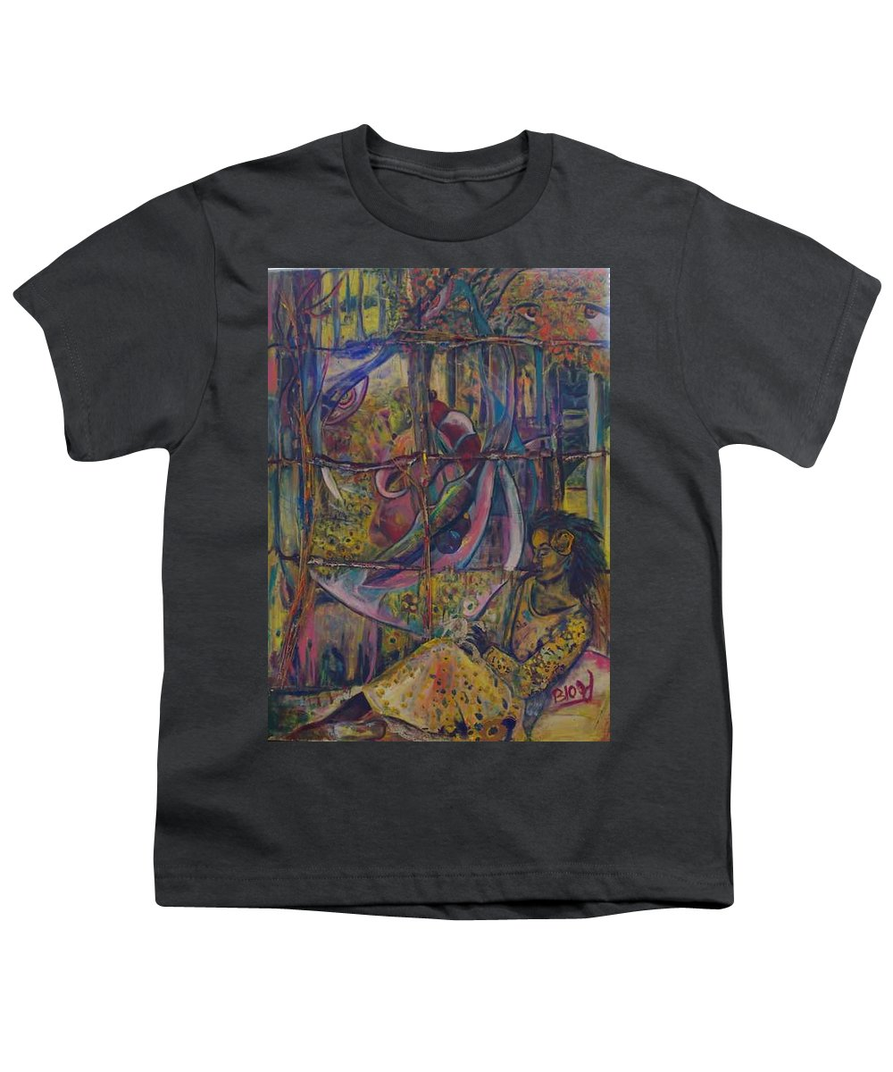 Mother Youth T-Shirt featuring the painting Goodbye Sweet Dreams by Peggy Blood