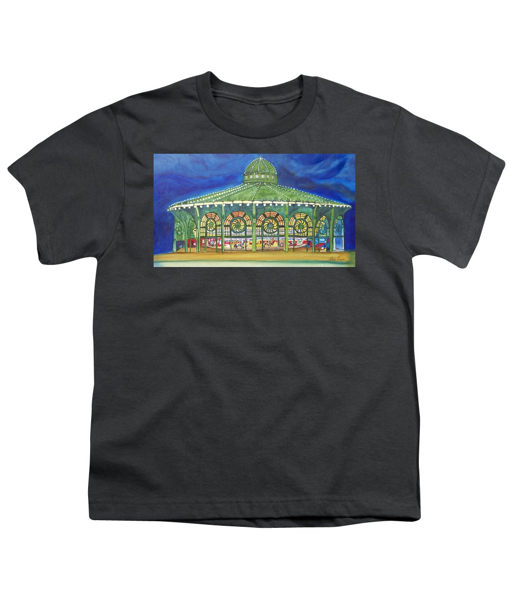 Night Paintings Of Asbury Park Youth T-Shirt featuring the painting Grasping The Memories by Patricia Arroyo
