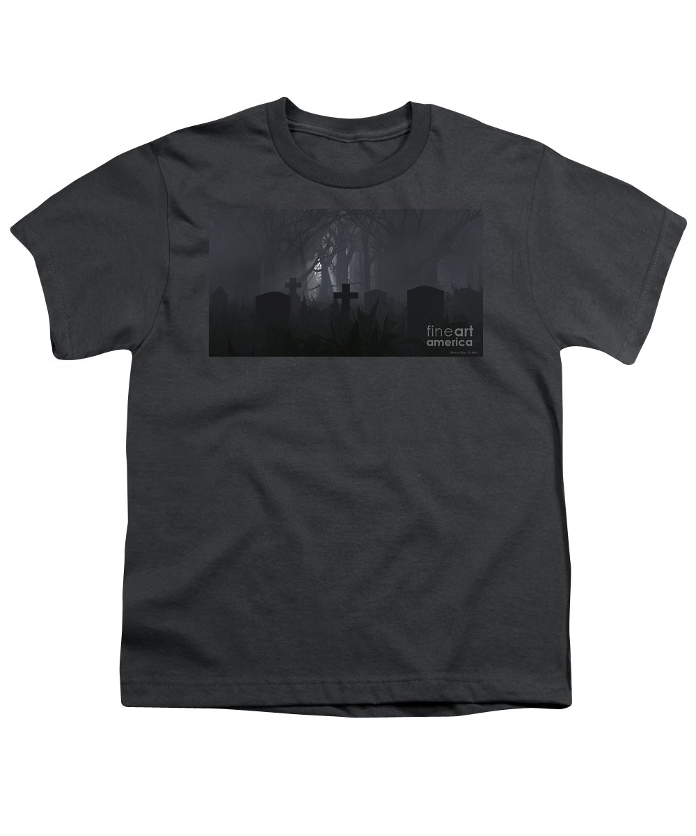 Death Youth T-Shirt featuring the digital art Guiding Light by Richard Rizzo