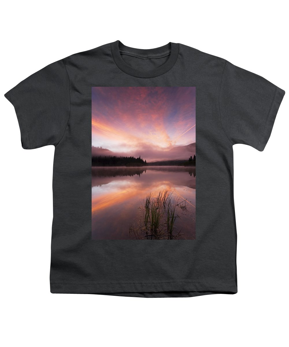 Sunrise Youth T-Shirt featuring the photograph Heavenly Skies by Mike Dawson