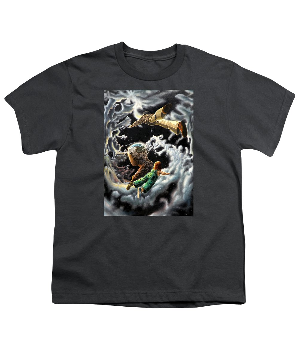 Fantasy Youth T-Shirt featuring the painting Homecoming by Dave Martsolf