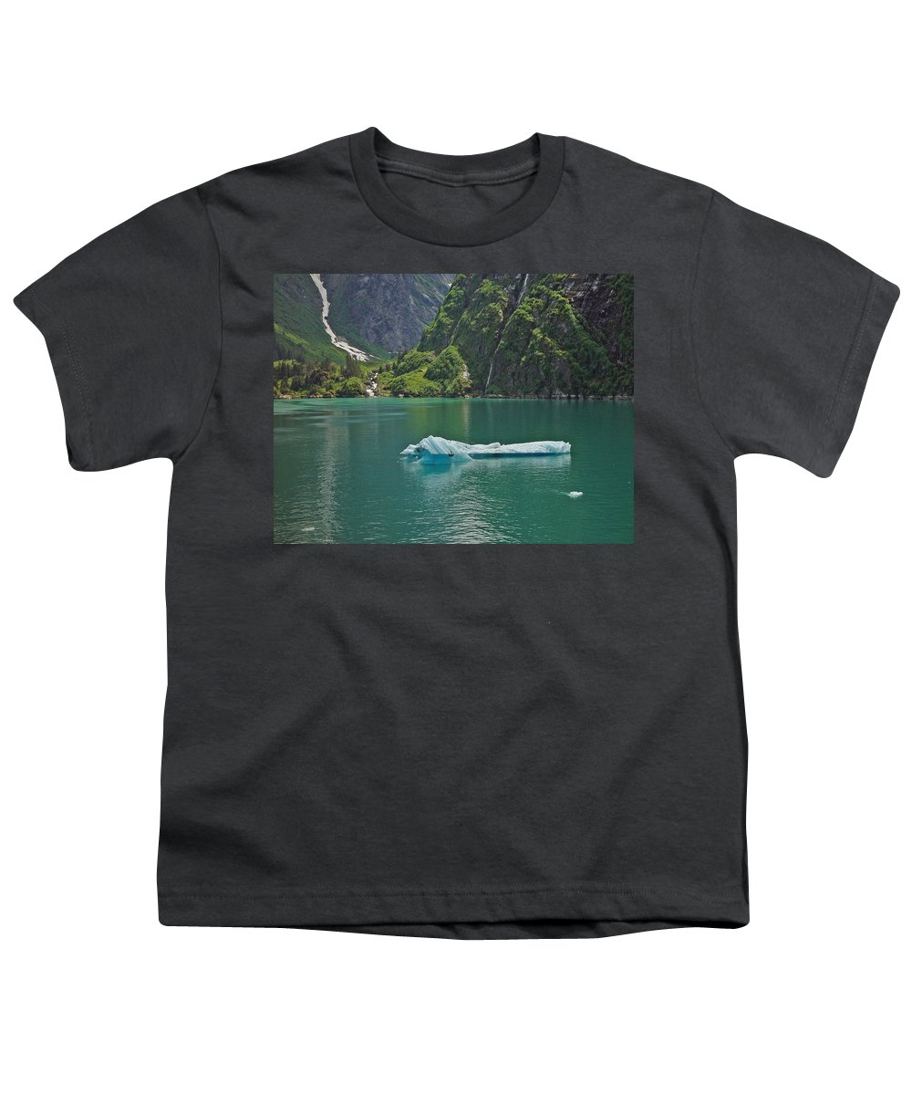 Iceburg Youth T-Shirt featuring the photograph Ice Tracy Arm Alaska by Heather Coen