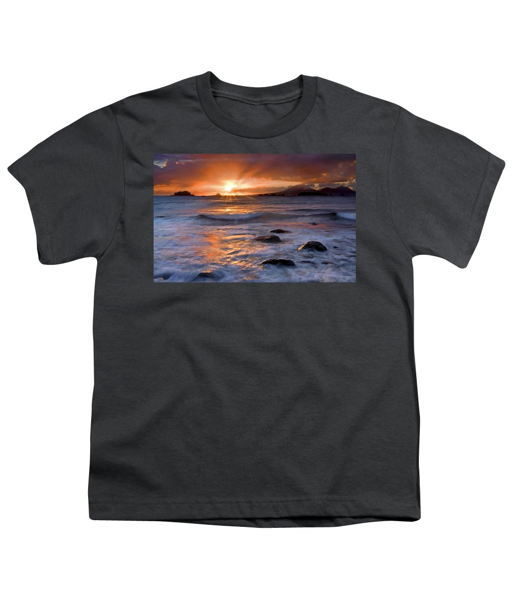 Alaska Youth T-Shirt featuring the photograph Inspired Light by Mike Dawson