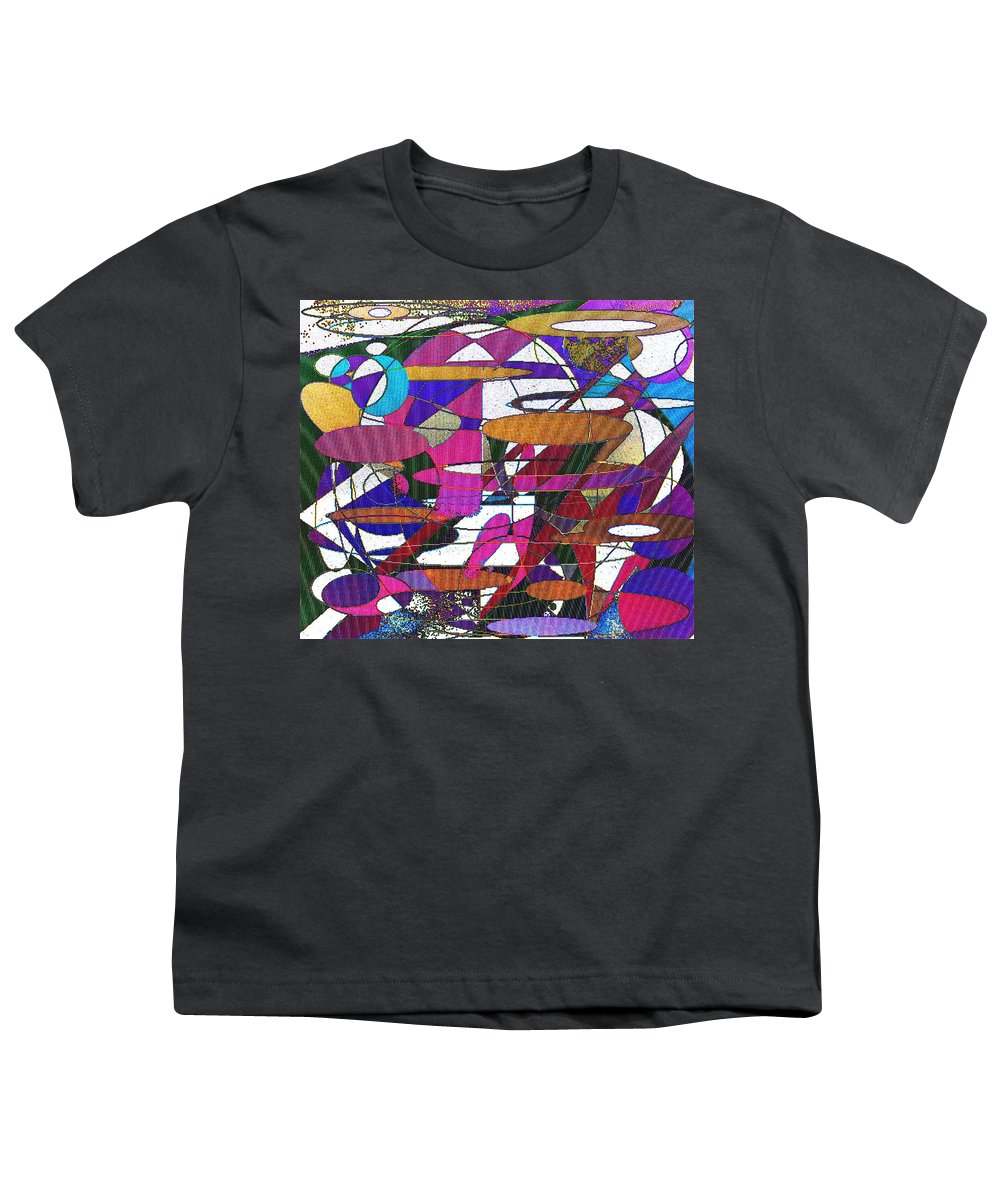 Abstract Youth T-Shirt featuring the digital art Intergalatic by Ian MacDonald