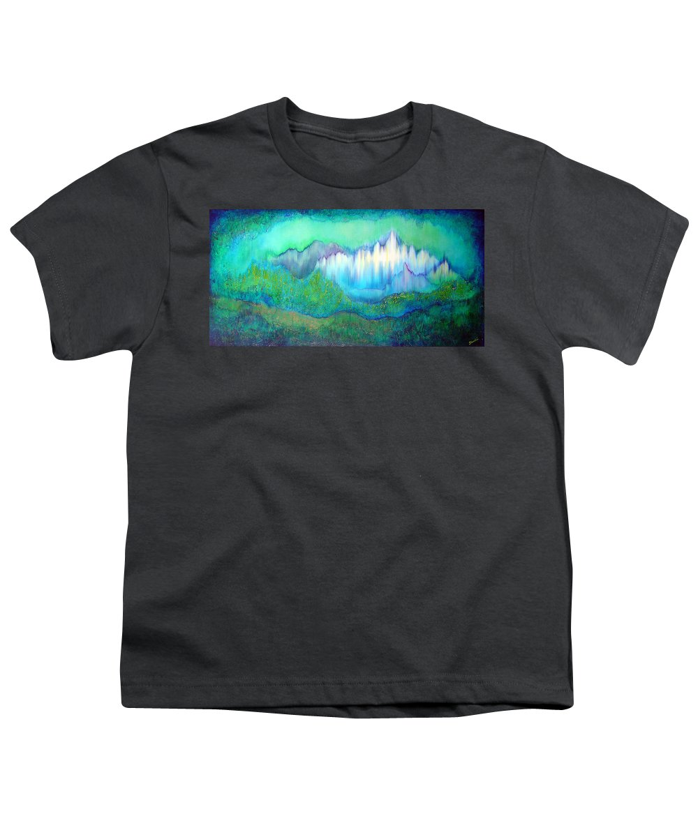 Blue Youth T-Shirt featuring the painting Into The Ocean by Shadia Derbyshire