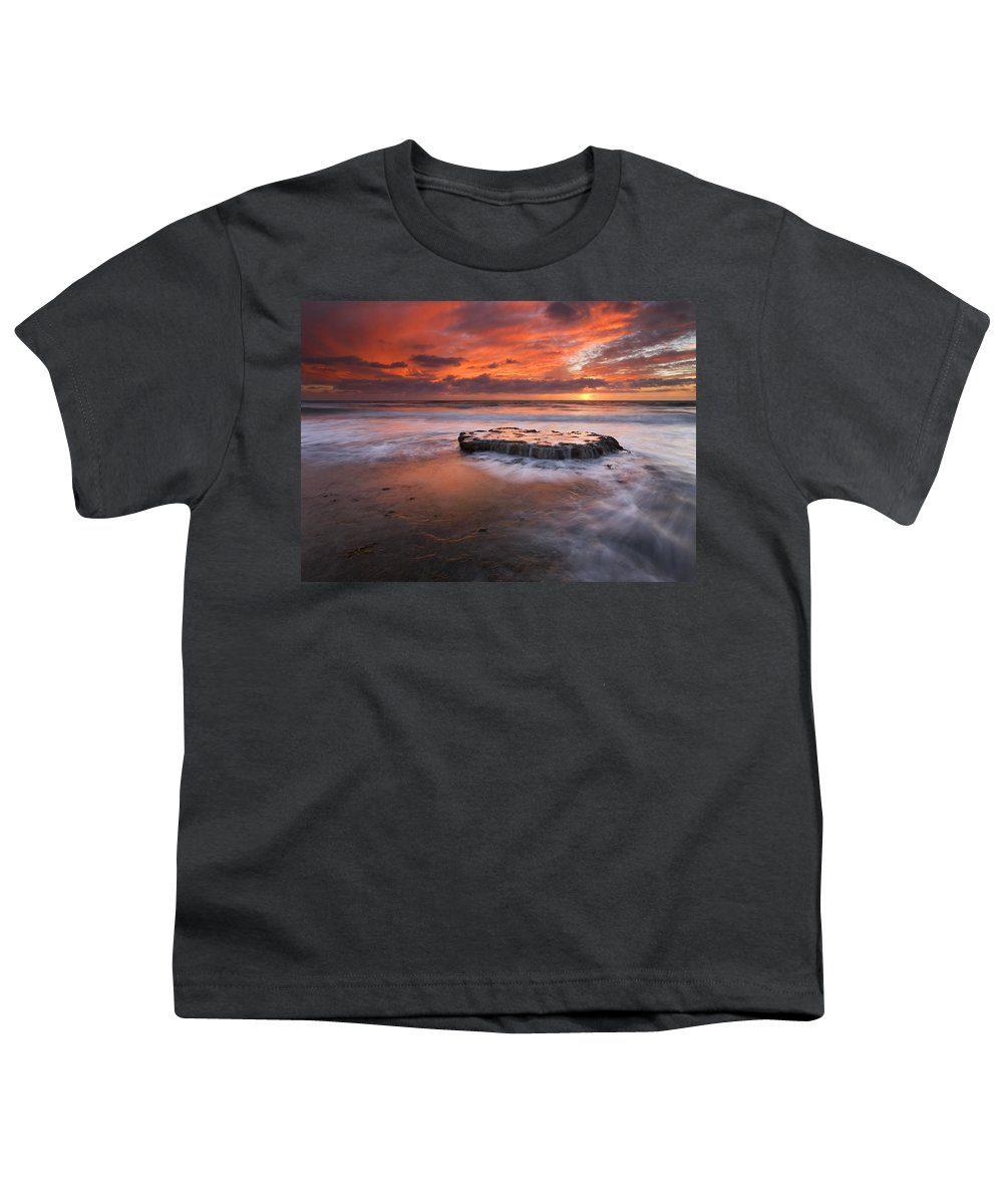 Island Youth T-Shirt featuring the photograph Island In The Storm by Mike Dawson