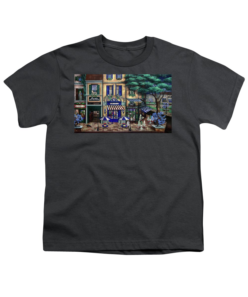 Italian Youth T-Shirt featuring the mixed media Italian Cafe by Curtiss Shaffer