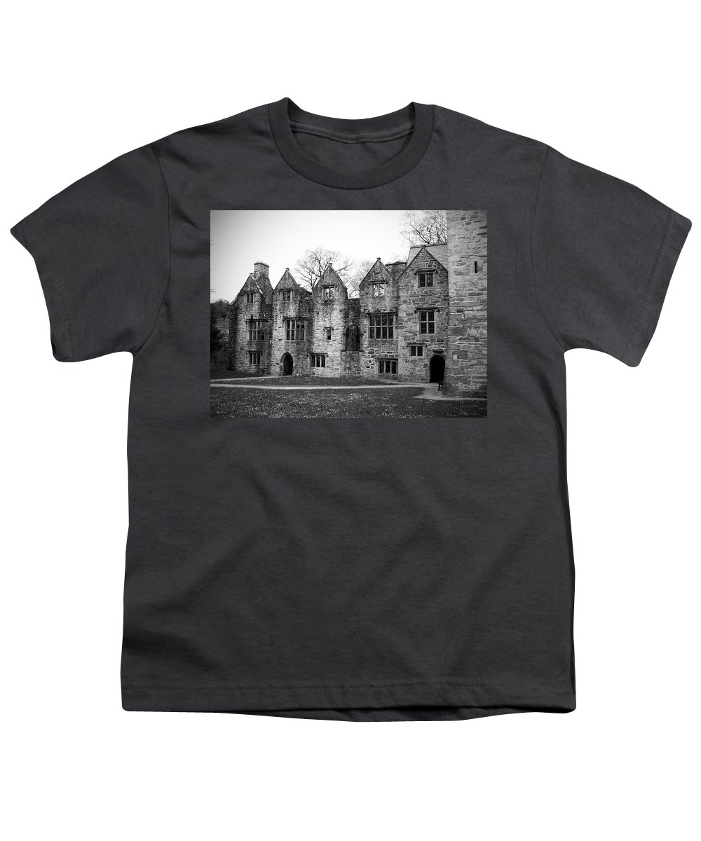 Irish Youth T-Shirt featuring the photograph Jacobean Wing At Donegal Castle Ireland by Teresa Mucha