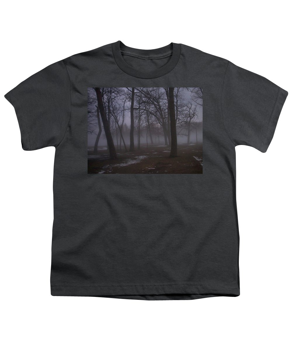 January Youth T-Shirt featuring the photograph January Fog 2 by Anita Burgermeister