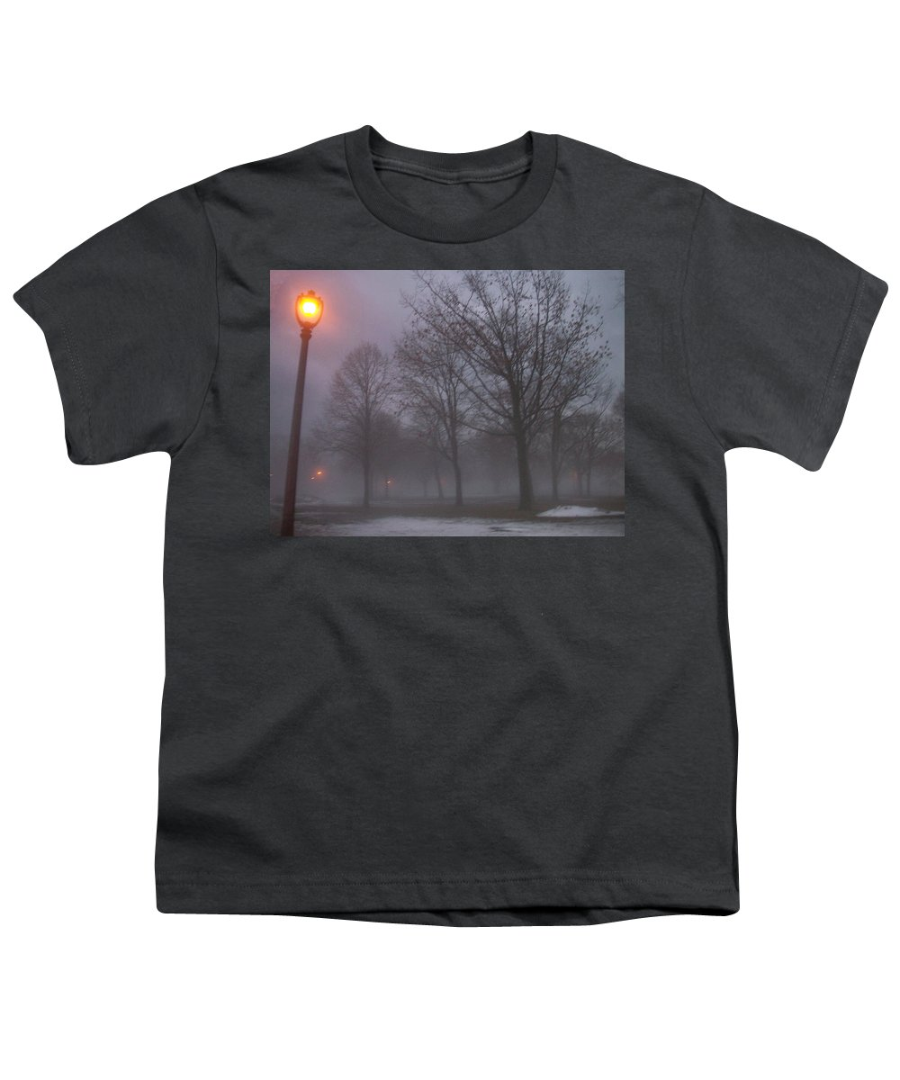 January Youth T-Shirt featuring the photograph January Fog 3 by Anita Burgermeister