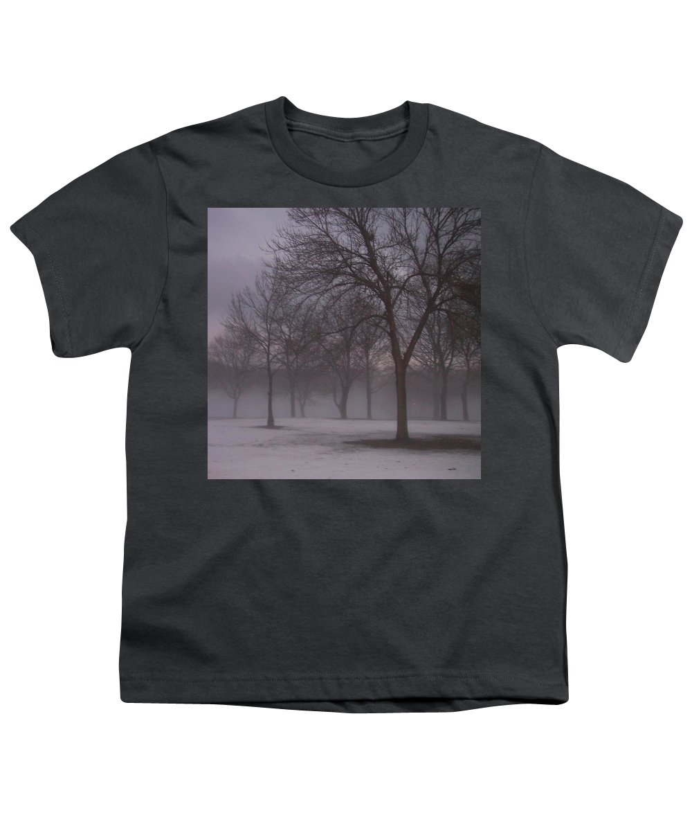 January Youth T-Shirt featuring the photograph January Fog 4 by Anita Burgermeister