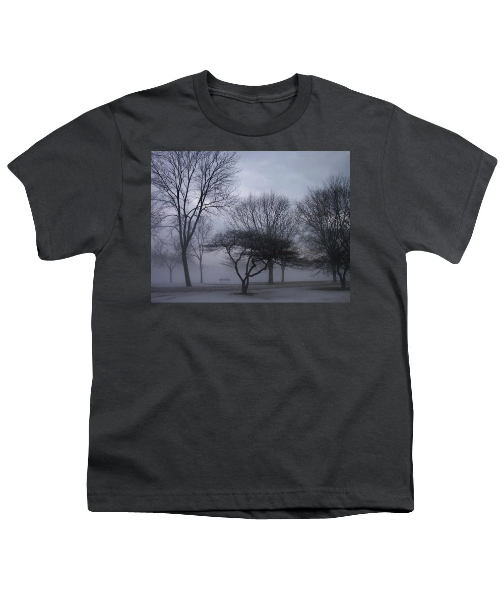 January Youth T-Shirt featuring the photograph January Fog 6 by Anita Burgermeister