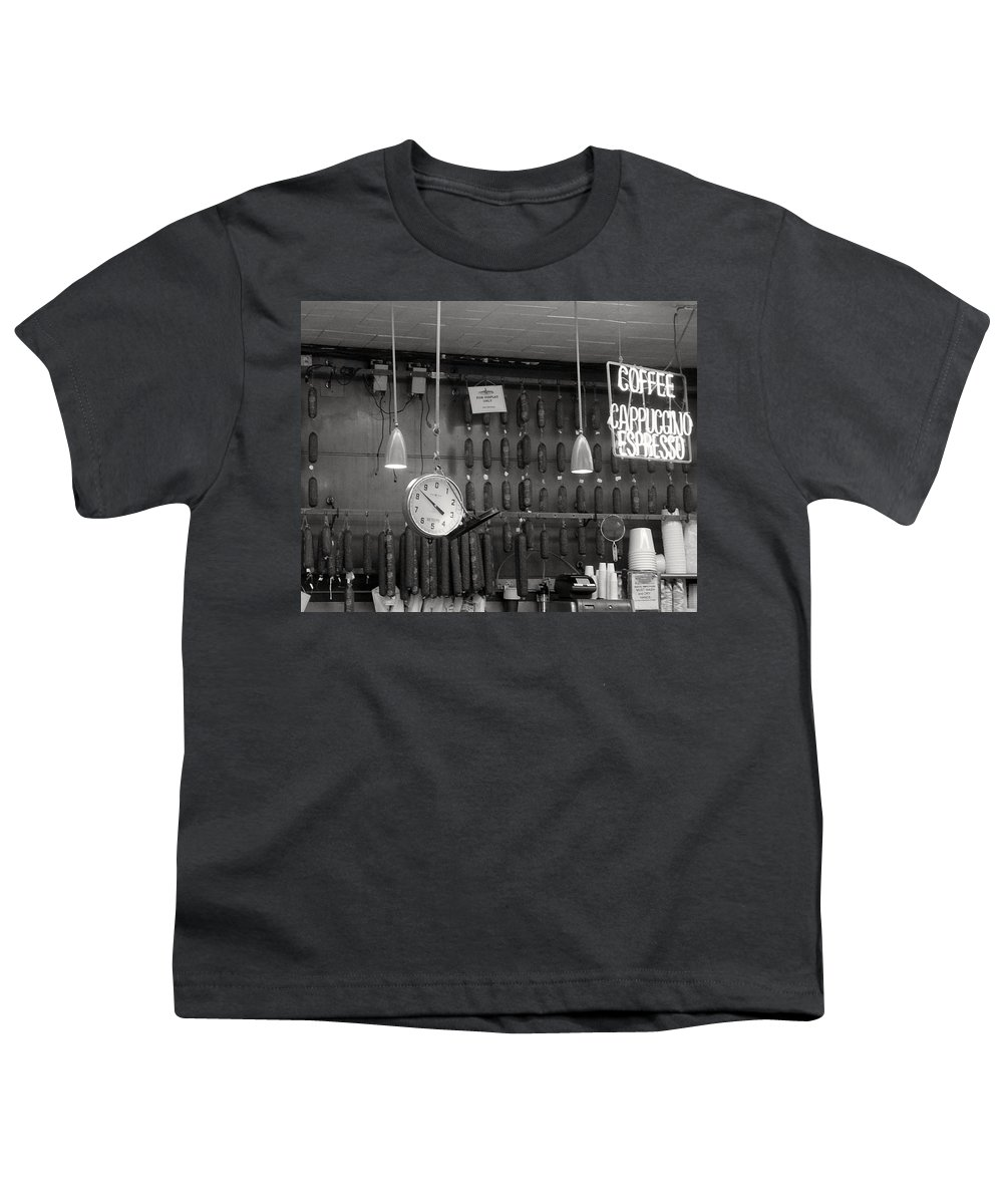 Deli Youth T-Shirt featuring the photograph Katz Deli by Debbi Granruth