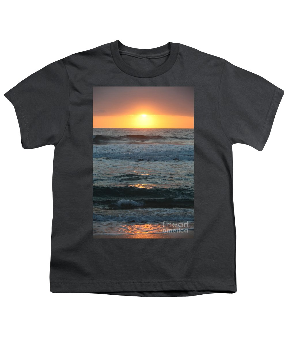 Kauai Youth T-Shirt featuring the photograph Kauai Sunrise by Nadine Rippelmeyer