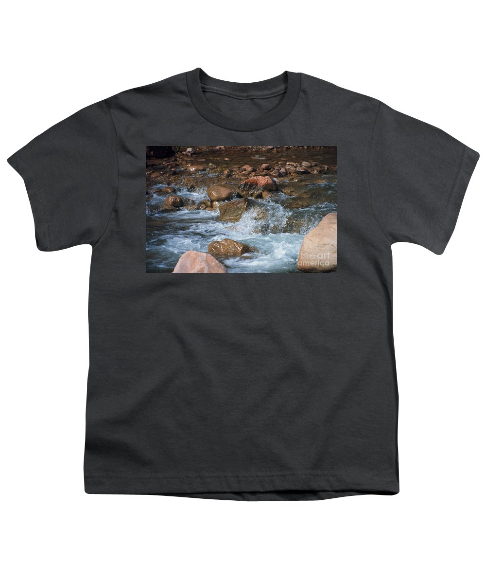 Creek Youth T-Shirt featuring the photograph Laughing Water by Kathy McClure
