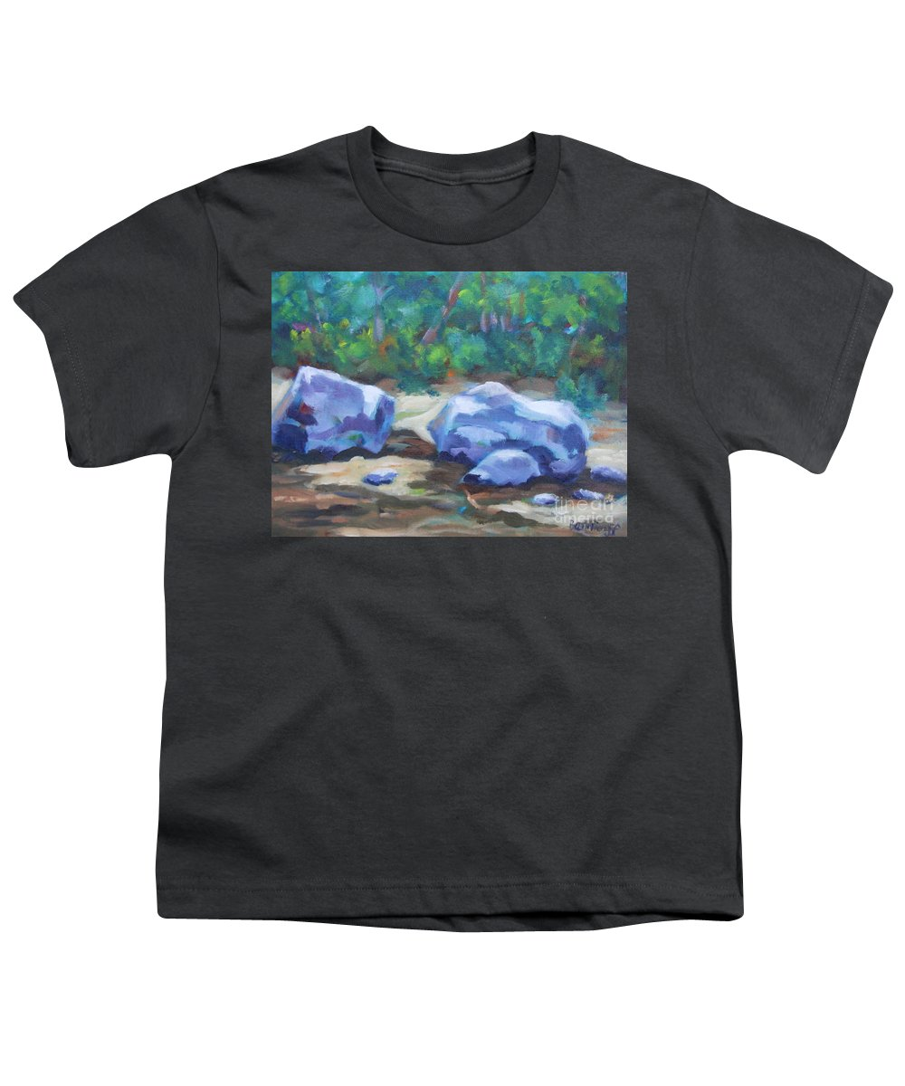 Expressionist Landscape Youth T-Shirt featuring the painting Lindenlure by Jan Bennicoff