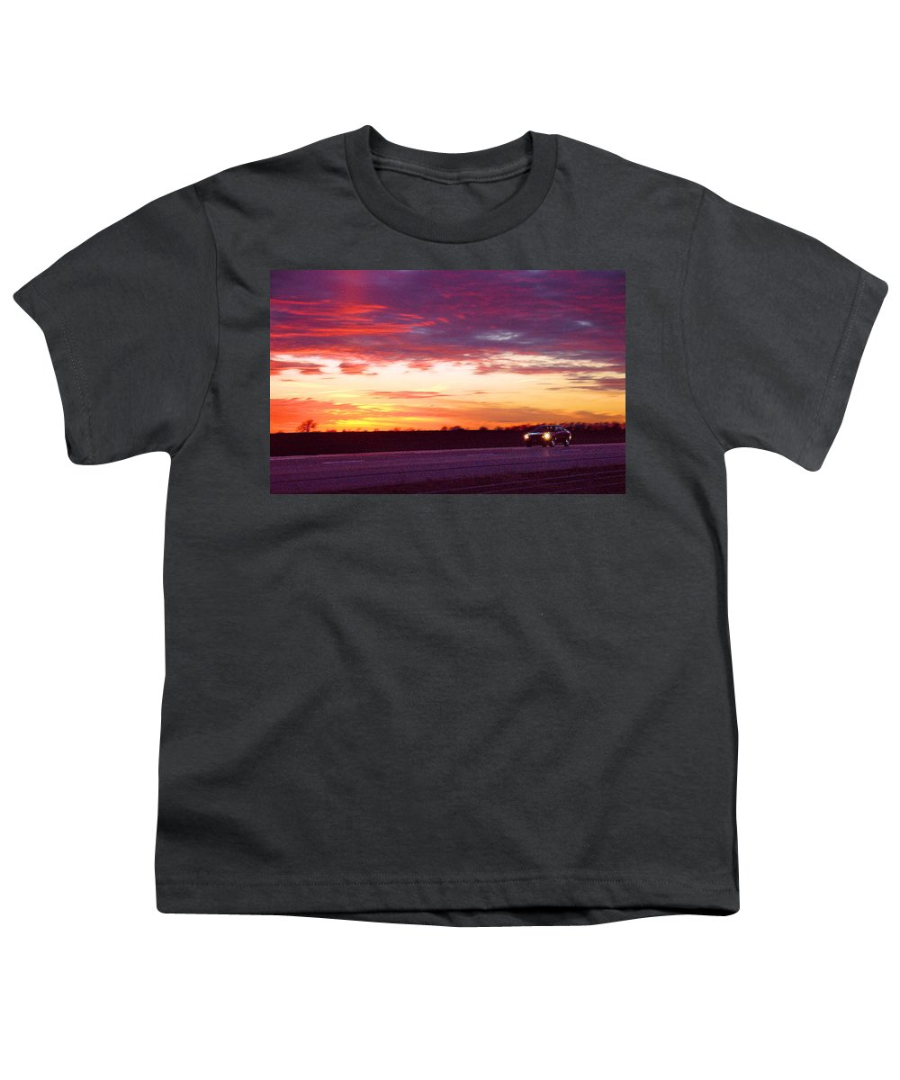 Landscape Youth T-Shirt featuring the photograph Lonesome Highway by Steve Karol