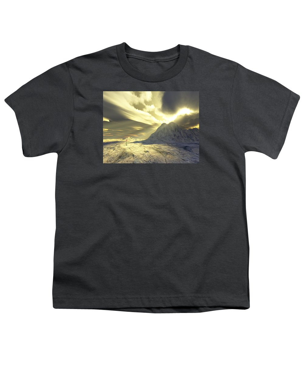 Loved Youth T-Shirt featuring the digital art Loved - Never Forgotten by Jennifer Kathleen Phillips