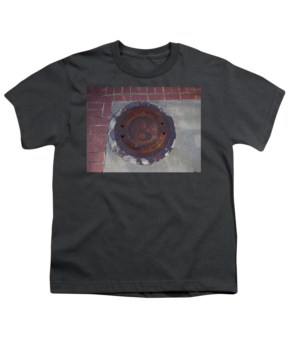 Manhole Youth T-Shirt featuring the photograph Manhole II by Flavia Westerwelle